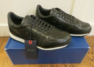 Armani Jeans Low Cut Black Sneakers - *NEW WITH BOX* - Multiple Sizes