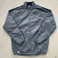 Vintage Nike Windbreaker Jacket Mens Size Large Grey Blue Swoosh Adult