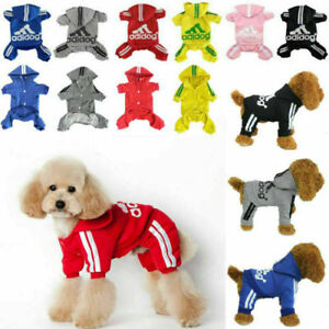 Scheppend Pet Small Dog Clothes Puppy Coat Winter Hoodie Sweater Jacket Adidog
