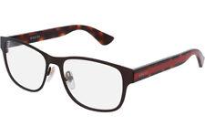 NEW GUCCI Mens Brown Havana Transparent Stripe Eye Glasses Frame GG 0007O 004 7O
