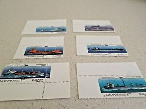 SET OF 6 BULGARIAN STAMPS (SHIPS) 1992
