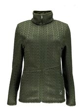 NWT Womens  Olive Spyder Cable Core Full Zip Mid-weight Sweater  Size X-Large