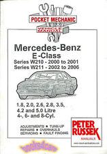 SHOP MANUAL MERCEDES SERVICE REPAIR BOOK E CLASS W210 W211 2000-2006