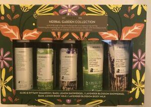 Korres Herbal Garden Collection Lemon, Basil, Lavender, Travel size 5 Piece Set