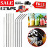 "10.5"" Metal Stainless Steel Drinking Straws Smoothie Reusable For 30Oz Yeti Rtic"