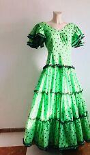 Bust 92 cm: Vintage Authentic Flamenco Gypsy Dress Frida Kahlo Feria Gitana
