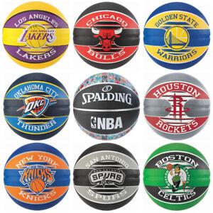 Spalding NBA Team Basketball Lakers Warriors Celtics Bulls Rockets Knicks Spurs