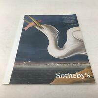 JOHN JAMES AUDUBON 2014 Sotheby's New York Catalog: Birds of America/Quadrupeds