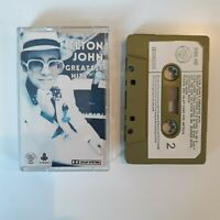 ELTON JOHN GREATEST HITS CASSETTE TAPE 1974 PAPER LABEL DJM RECORDS UK