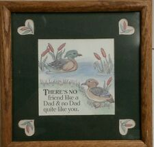Dad gift Framed & Matted words w/ Ducks New!