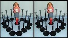 2 dozen (24) Black Kaiser Doll Stands for BARBIE Monster High