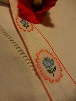 4m 10    x    3cm large  ruban galon rose=== mercerie ancienne tabliers ,literie