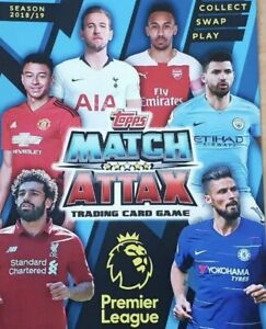 TOPPS MATCH ATTAX 2018/19 BASE CARDS 1 - 180  WITH CHECKLIST