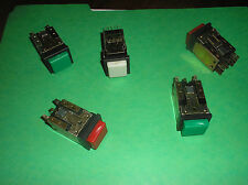 Switchcraft Square Pushbutton Switch with Caps Radio Studio Equipment Lot of 5