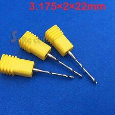 5pcs AAA Endmill Single Flute Spiral CNC Router Cutter Bits 1/8'' 3.175mmx2x22mm