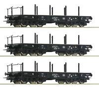 "Roco H0 46380-S Schwerlastwagen ""Bauart Rlmmp"" der DB (3 Stück) - NEU + OVP"