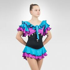 Ice Skating Figure Skating Turquoise/Lilac spandex size Xsmall Adult