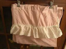 Vintage Pink stripe and eyelet shower curtain