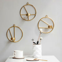 Gold Nordic Style Geometric Candlestick Metal Wall Candle Holder Home Wall Decor