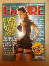 EMPIRE FILM MAGAZINE No 146 AUGUST 2001 ANGELINA JOLIE - LARA CROFT TOMB RAIDER