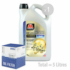 Engine Oil and Filter Service Kit 5 LITRES Millers NANODRIVE EE 5w-30 5L