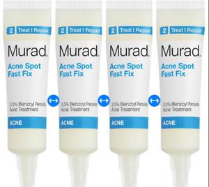 Murad Rapid Relief Acne Spot 0.25 fl oz / 7.5 ml each  (4 Tubs) New No Box