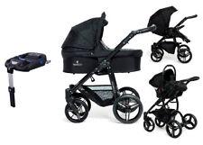 Venicci Soft black 3 in 1 travel system black with car seat bag footmuff & base