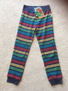 BNWT Frugi Boys Rainbow Stripe Leggings Trousers 4-5 Years Organic