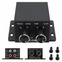 Car RCA Remote Level Amplifier Subwoofer Equalizer Crossover Bass Controller