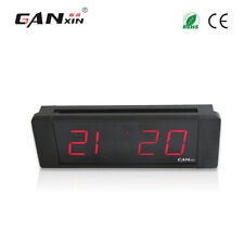 "[Ganxin]1"" Digital Led Table Clock Desk Clock Red Multifunction Meeting Timer"