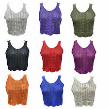 Acrylic V Neck Cropped Regular Size Tops & Shirts for Women