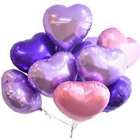 12pcs Love Heart Foil Balloon Helium Wedding Favor Birthday Party Decor 18inch