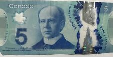 2001 Canada 5 Dollar Bill EARLY HBT PREFIX MINT CRISP UNC WITH SECURITY STRIP
