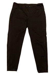 """Old Navy Black Athletic Pants No Size Tag 32"""" Waist Elevate Leggings Go Dry"""