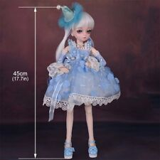 45cm BJD Doll Handmade Girls Dolls Eyes Wig Clothes Shoes Toys Make up Gift Toy