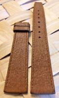 Genuine MOVADO 18mm Brown Slim Leather Watch Strap Band Retail $90.00