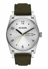 **BRAND NEW** NIXON WATCH THE JANE LEATHER SILVER SURPLUS A9552232 NEW IN BOX!