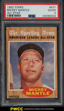 1962 Topps Mickey Mantle ALL-STAR #471 PSA 2 GD
