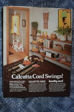 Vintage Calcutta Cord Swing Instructions