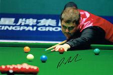 Robert MILKINS Signed Autograph Snooker 12x8 Photo AFTAL COA Gloucester