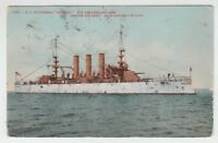 "[B68059] 1909 POSTCARD U. S. BATTLESHIP ""GEORGIA"""
