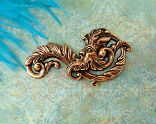 ANTIQUE COPPER Mythological GREEN MAN Stamping ~ Jewelry Findings (C-1301)