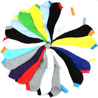 5 Pairs  Men Fashion Ankle Low Cut Sport Socks No Show Casual Candy Color SH