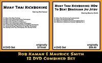 Muay Thai Kickboxing with Rob Kaman & Maurice Smith Combined (12 DVD Set)