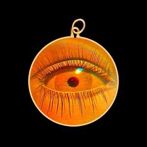 9ct Gold Hologram Pendant - Eye 2 (Medium) - No Chain