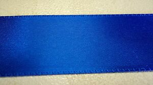 """7/8"""" DOUBLE FACE SATIN RIBBON-100% POLYESTER-10 YARDS-ROYAL-u s made BY OFFRAY"""