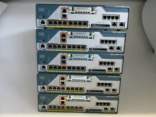 5 x Cisco 1861 integrated Services Router C1861-SRTS-B/K9, 128 MB / 1 GB Flash