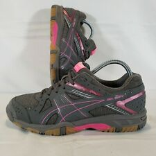 New listing Asics Gel 1150V B457Y Womens Size 9 Volleyball Shoes Gray Pink