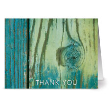 24 Thank You Note Cards - Grateful By The Sea - Off White Ivory Envs