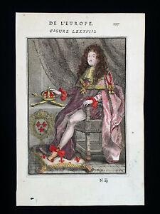 1683 A.M. MALLET: France, Louis XIV°, King of France, Paris, Gaule, Francia...